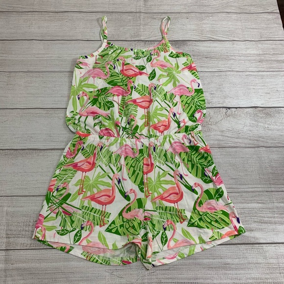 The Childrens Place Girls Size 10/12 Floral Romper